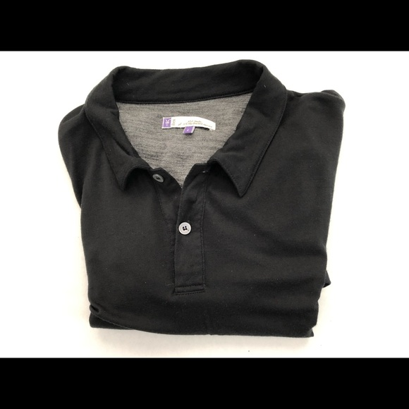 ibex Other - BLACK Polo 100% WOOL Shirt L VG Condition USA